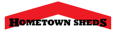 hometown sheds sidebar logo