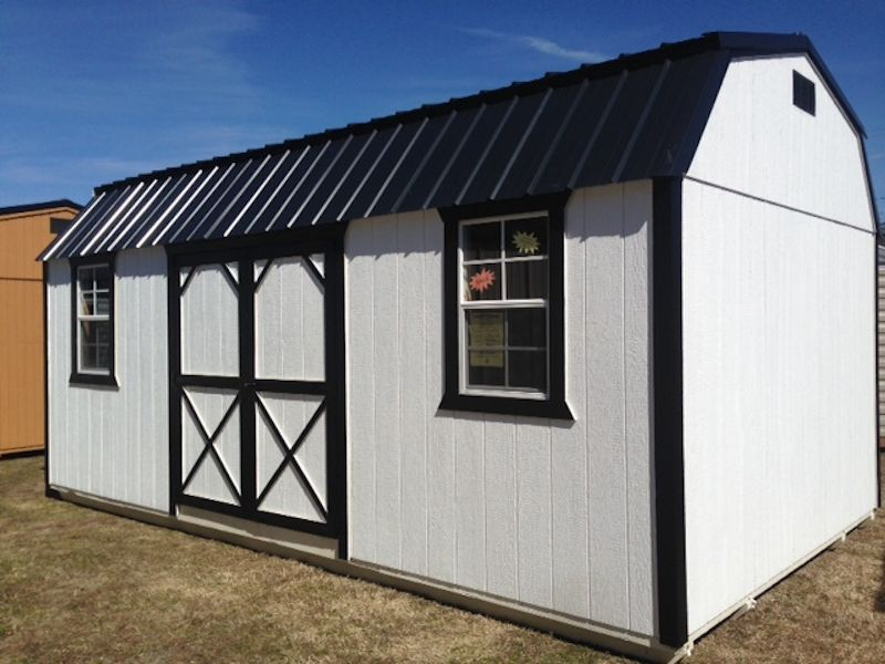 Side lofted barn hometown sheds boiling springs south for Side storage shed